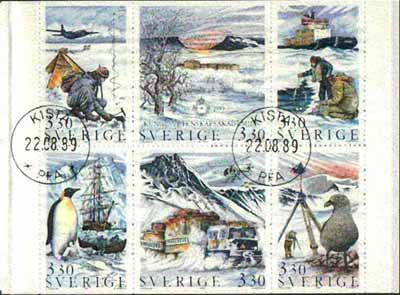 Booklet - Sweden 1989 Swedish Academy of Sciences (Polar Research) 19k80 booklet complete with first day cancels, SG SB419