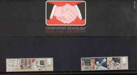 Great Britain 1982 Information Technology set of 2 in official presentation pack SG 1196-97