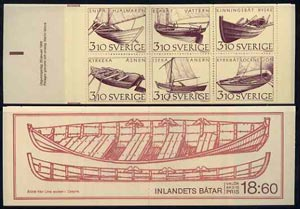 Booklet - Sweden 1988 Inland Boats 18k60 booklet complete and very fine, SG SB405
