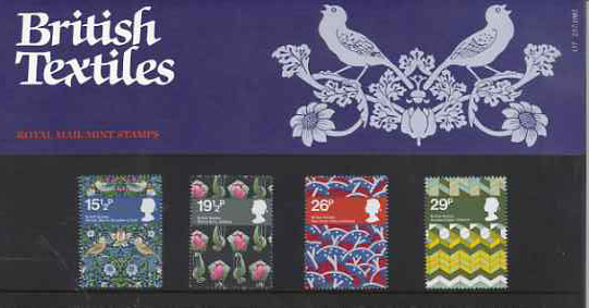 Great Britain 1982 British Textiles set of 4 in official presentation pack SG 1192-95