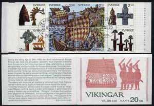 Booklet - Sweden 1990 Vikings 20k booklet complete with first day cancels, SG SB426