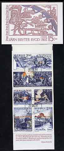 Booklet - Sweden 1991 Bergslagen Iron Industry 15k booklet complete with first day cancels, SG SB439