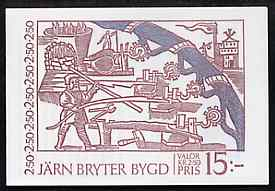 Booklet - Sweden 1991 Bergslagen Iron Industry 15k booklet complete and very fine, SG SB439