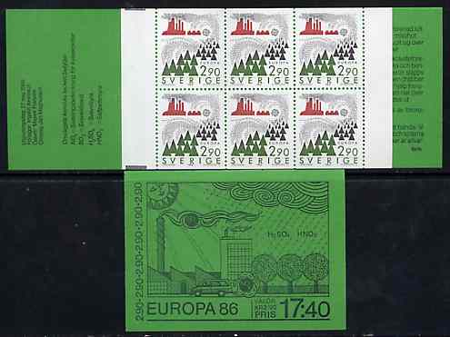 Booklet - Sweden 1986 Europa 17k40 booklet complete and very fine, SG SB392