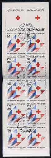 Booklet - France 1988 Red Cross (Cross) 28f Booklet complete with first day cancels SG XSB38