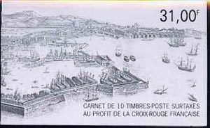 Booklet - France 1991 Red Cross (Toulon) 31f Booklet complete with first day cancels SG XSB41