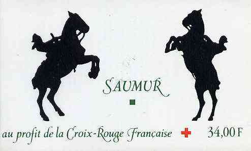 Booklet - France 1993 Red Cross (Saumur Tapestry) 34f Booklet complete with first day cancels SG XSB45