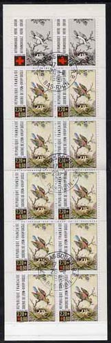 Booklet - France 1989 Red Cross (Bird Feeding Chicks) 28f Booklet complete with first day cancels SG XSB39