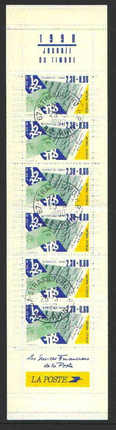 Booklet - France 1990 Stamp Day 17f40 Booklet complete with first day cancels SG CSB15