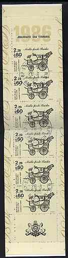 Booklet - France 1986 Stamp Day 16f80 Booklet complete with first day cancels SG CSB7