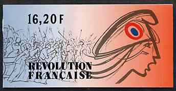 Booklet - France 1989 Red Cross Fund (Bicentenary of French Revolution) 16f20 Booklet complete with first day cancels SG CSB13