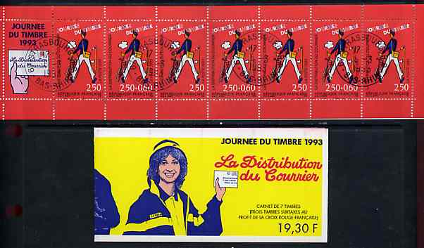 Booklet - France 1993 Stamp Day 19f30 Booklet complete with first day cancels SG CSB21
