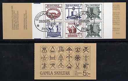 Booklet - Sweden 1985 Trade Signs 5k booklet complete with first day cancels, SG SB383