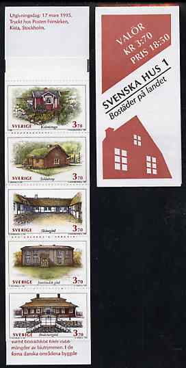 Booklet - Sweden 1995 Traditional Houses 18k50 booklet complete and pristine