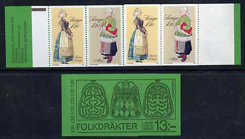 Booklet - Sweden 1979 Peasant Costumes 13k booklet complete and pristine, SG SB338