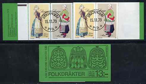 Booklet - Sweden 1979 Peasant Costumes 13k booklet complete with first day cancels, SG SB338
