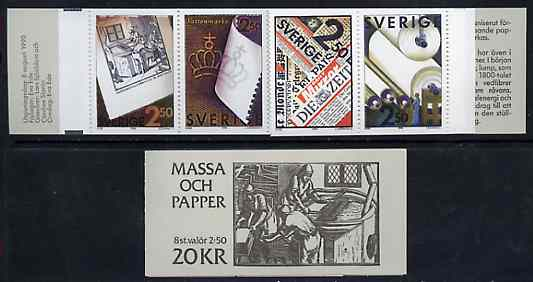 Booklet - Sweden 1990 Pulp & Paper Industry 20k booklet complete and very fine, SG SB429