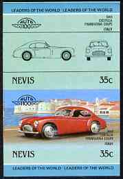 Nevis 1985 35c Cisitalia Coupe (1948) unmounted mint imperf se-tenant pair (as SG 328a)