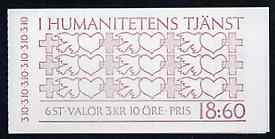 Booklet - Sweden 1987 In The Service of Humanity 16k80 booklet complete and very fine, SG SB400