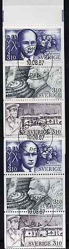 Booklet - Sweden 1987 In The Service of Humanity 16k80 booklet complete with first day cancels, SG SB400