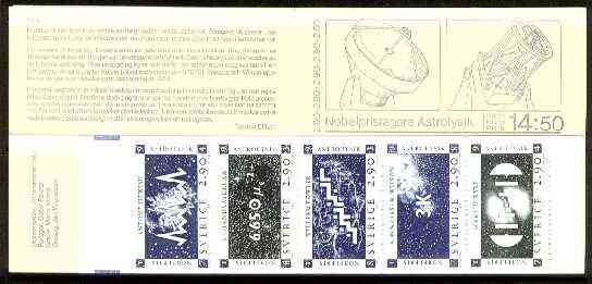 Booklet - Sweden 1987 Nobel Prize Winners for Physics 14k50 booklet complete and very fine, SG SB404