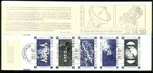 Booklet - Sweden 1987 Nobel Prize Winners for Physics 14k50 booklet complete with first day cancels, SG SB404