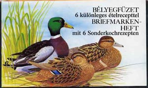 Booklet - Hungary 1988 Wild Ducks 60fo booklet complete and pristine (without inscription on front cover)