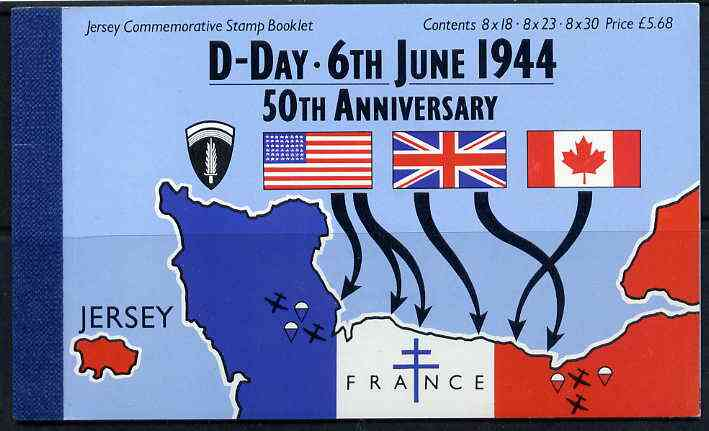 Booklet - Jersey 1994 50th Anniversary of D-Day \A35.68 booklet complete with first day cancels, SG B51