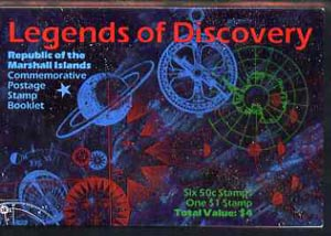 Booklet - Marshall Islands 1992 Legends of Discovery $4 booklet complete with first day cancels SG SB21