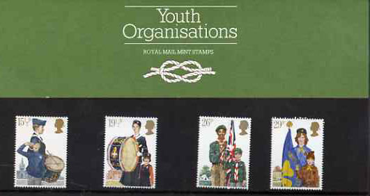 Great Britain 1982 Youth Organisations set of 4 in official presentation pack SG 1179-82
