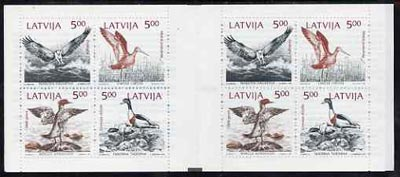 Booklet - Latvia 1992 Birds of the Baltic 40r booklet complete and very fine containing two se-tenant blocks of 4 (2 sets)