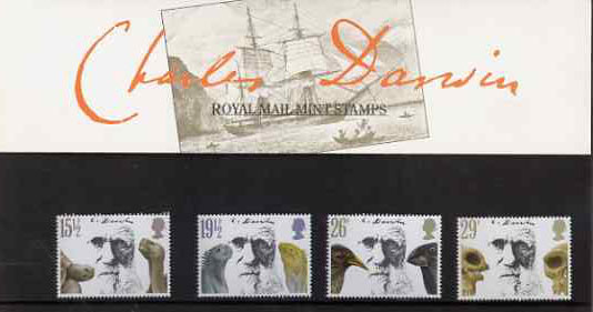 Great Britain 1982 Death Centenary of Charles Darwin set of 4 in official presentation pack SG 1175-78
