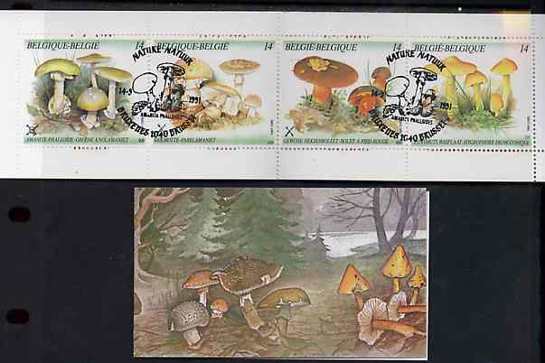 Booklet - Belgium 1991 Fungi 56f booklet complete with first day cancels, SG SB53
