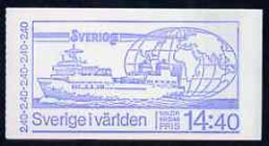 Booklet - Sweden 1981 Sweden In The World 14k40 booklet complete and pristine, SG SB354