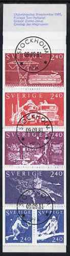 Booklet - Sweden 1981 Sweden In The World 14k40 booklet complete with first day cancels, SG SB354