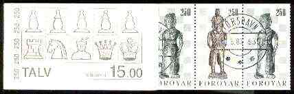 Booklet - Faroe Islands 1983 Chess Pieces 15k booklet complete with first day cancels, SG SB2
