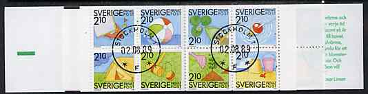 Booklet - Sweden 1989 Rebate Stamps 42k booklet (Summer Activities) complete with cds cancels, SG SB416