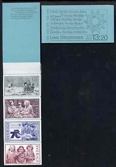 Booklet - Sweden 1982 Living Together 13k20 booklet complete and pristine, SG SB360