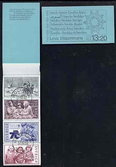 Booklet - Sweden 1982 Living Together 13k20 booklet complete with first day cancels, SG SB360