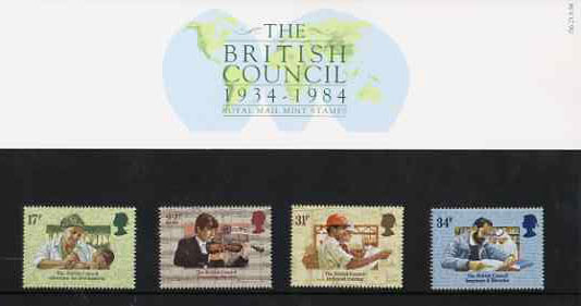 Great Britain 1984 British Council 50th Anniversary set of 4 in official presentation pack SG 1263-66