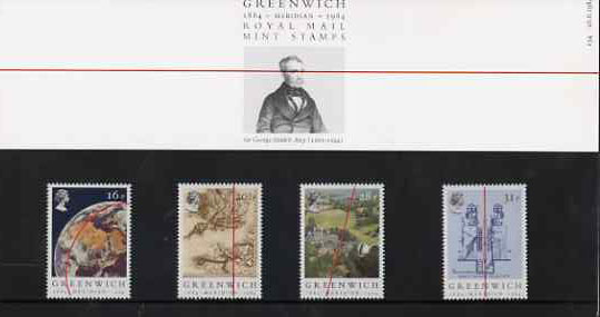 Great Britain 1984 Greenwich Meridian set of 4 in official presentation pack SG 1254-57