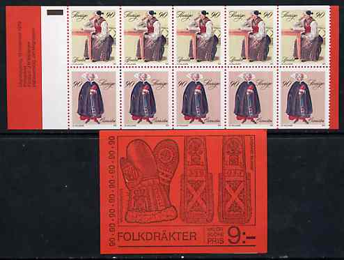 Booklet - Sweden 1979 Peasant Costumes 9k booklet complete and pristine, SG SB337