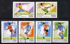 Benin 1997 World Cup Football complete set of 6 values cto used, SG 1614-19*