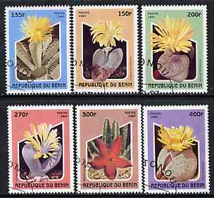Benin 1997 Cacti complete perf set of 6 values cto used, SG 1659-64
