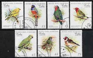 Cuba 1997 Carib Birds complete perf set of 7 values cto used SG 4186-92
