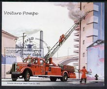 Cambodia 1997 Fire Engines perf miniature sheet cto used