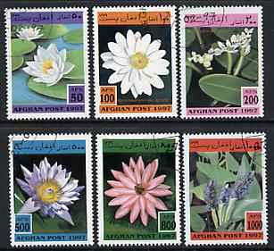 Afghanistan 1997 Wild Flowers complete set of 6 values cto used
