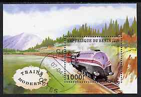 Benin 1997 Locomotives perf miniature sheet cto used, SG MS 1613