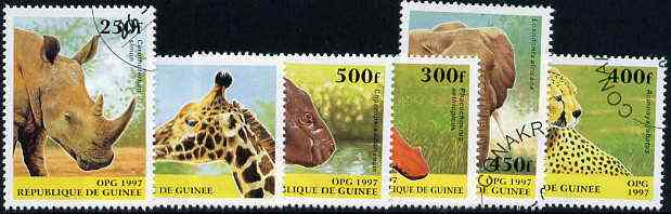 Guinea - Conakry 1997 Wild Animals complete set of 6 values cto used