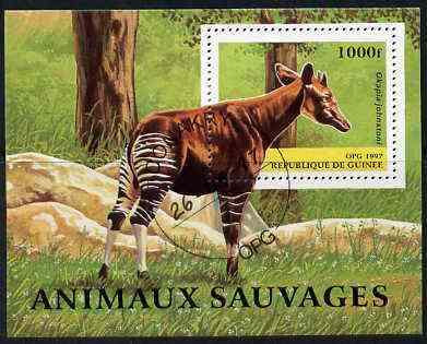 Guinea - Conakry 1997 Wild Animals perf miniature sheet cto used